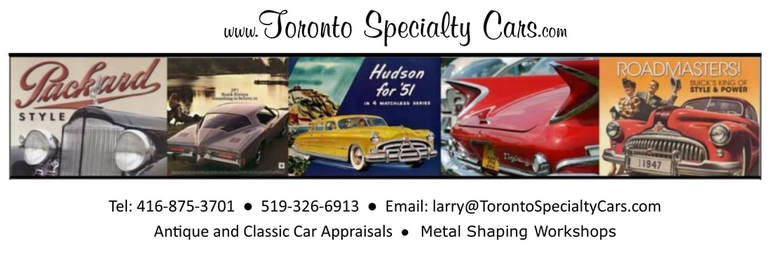 Toronto Specialty Cars - Antique and Classic Car Appraisals and Consulting